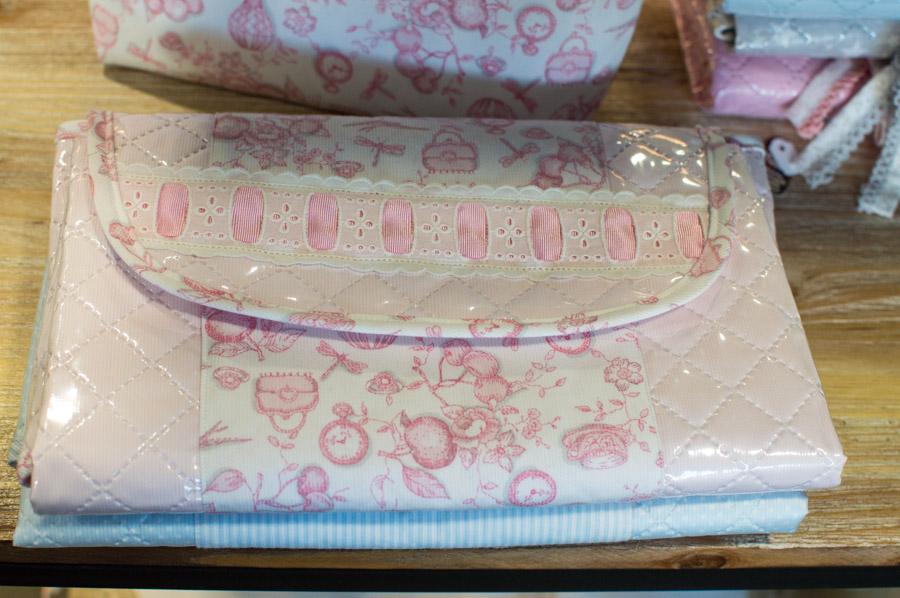 Cambiador para bebé de tela plastificada-forrada